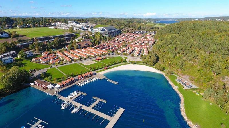 Der internationale Versammlungsort von BCC, Brunstad. Das Areal wird vom Oslofjord Convention Center betrieben.