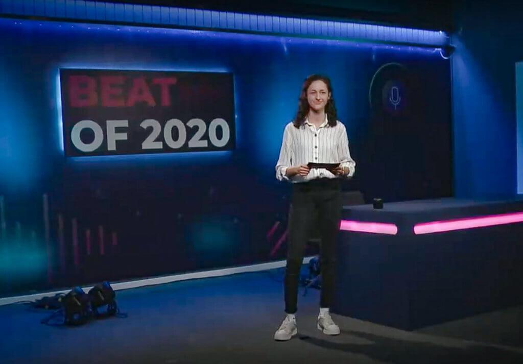Die Moderatorin führte die Online-Zuschauer durch die Sendung.